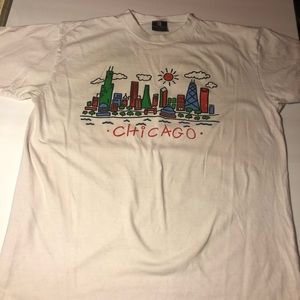 Vintage Chicago Multicolored Y2K Shirt Sz L